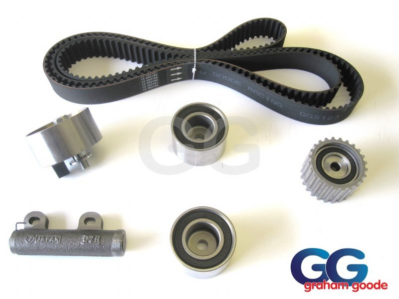 Impreza Turbo WRX STi Cam Timing Belt Kit >1996 V1 V2 V3 Belt x5 Tensioner Pulleys GGS123TBK5